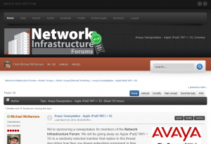 Network Infrastructure Forums