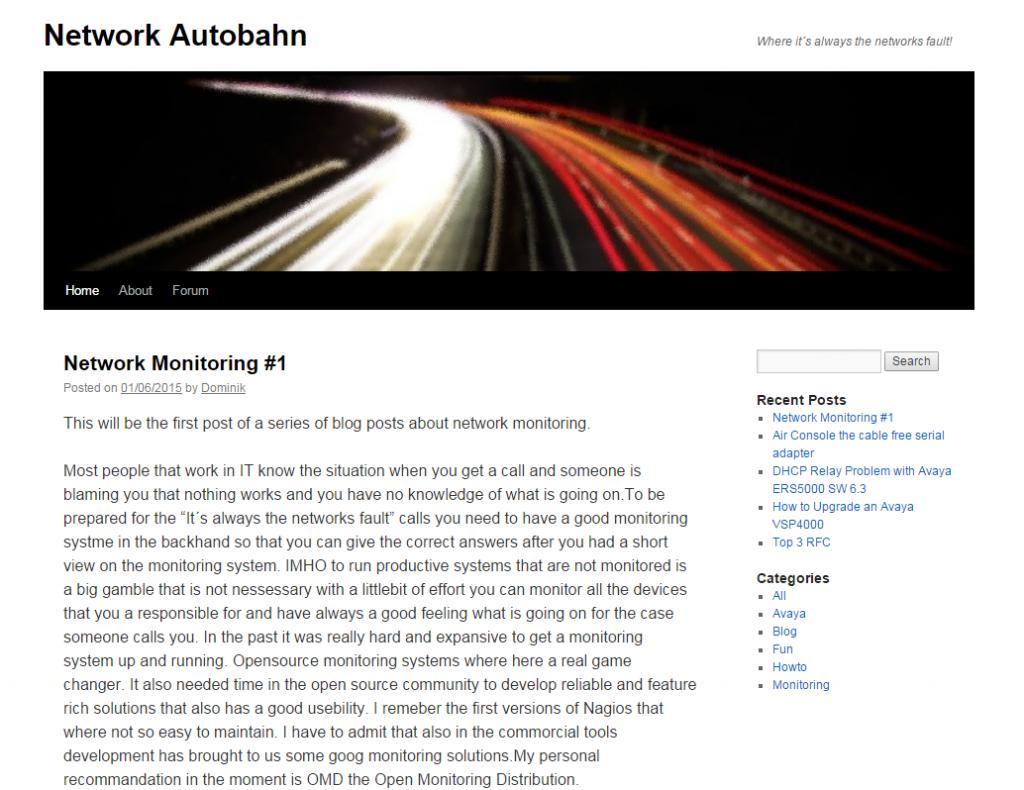 Network Autobahn
